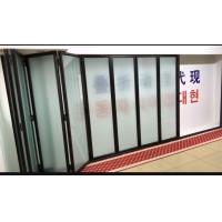 電動折疊門型材玻璃門/無框電動折疊門