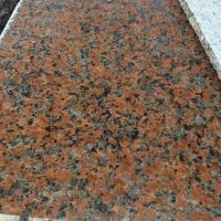 廣西紅色石材品種楓葉紅花崗巖批發光面大理石條板