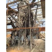 水泥仿真樹施工中