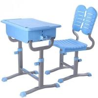 周口中空吹塑课桌椅-升降课桌椅小中高生课桌椅