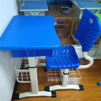 河南热销学生塑钢课桌椅、信阳单人塑钢课桌椅