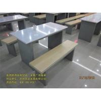 郑州久诺连体餐桌椅 圆凳食堂餐桌椅