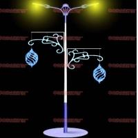 2020国庆庆典节日灯 街道亮化 LED灯杆造型灯 树挂件小
