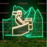 造型灯 定制滴胶小鹿 圣诞发光熊 商场装饰彩灯 灯杆造型灯