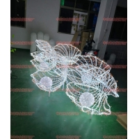 灯光节生产   蝴蝶 蜻蜓 滴胶七星瓢虫造型  亮化产品