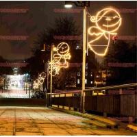 LED科技之星图案灯 街道装饰彩灯 节日气氛小品灯 LED造