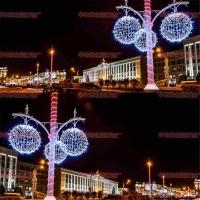 城市街道装饰 LED灯杆造型灯 平安结图案 装饰过街灯