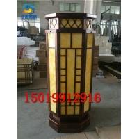 不锈钢拉丝古铜 大柱头灯供应万科万达 碧桂园地产石柱灯具厂家