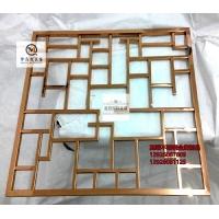 定制不锈钢家具屏风 金属装饰屏风隔断 玻璃不锈钢屏风