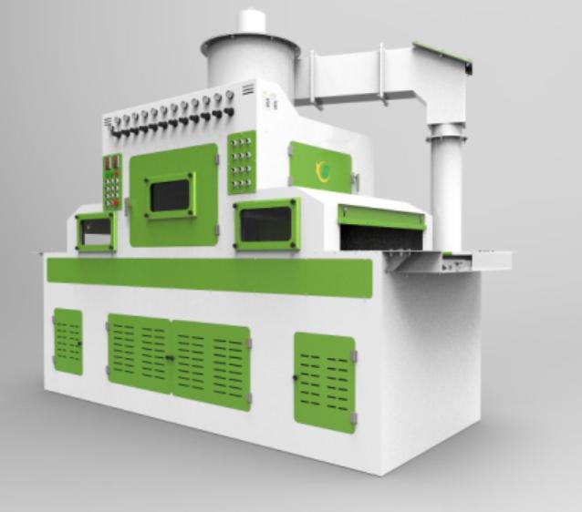 供应PET膜专用自动喷砂机,转印膜 PE膜喷砂机