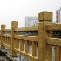 宇凌水泥基材仿木欄桿 紋理逼真堅固耐用不腐不燃不變形