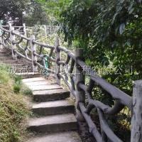 宇凌市政道路栏杆生产 桥梁河道水泥仿石栏杆 成品园林景观