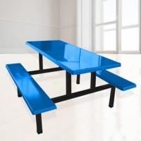 KS东莞餐桌工厂批发 东莞8人食堂玻璃钢餐桌价格划算