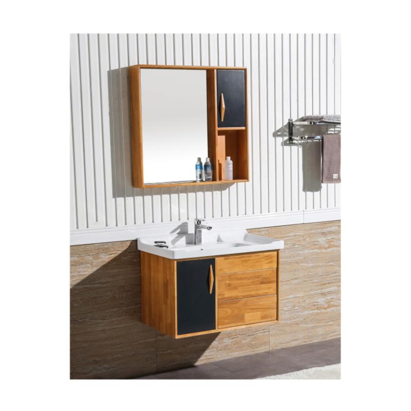 缘牌5039进口橡木浴室柜卫生间洗脸盆浴室镜柜洗漱台套装