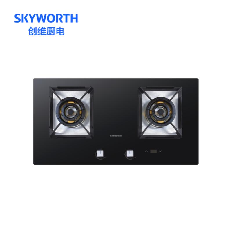 创维SKYWORTH 定时燃气灶双5.2KW超大火力