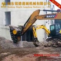 福建石子破碎机 移动破碎站 建筑垃圾处理设备 挖机破碎斗