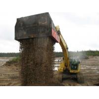 Allu篩分破碎鏟斗混合土壤 固化土壤修復 芬蘭阿魯斗