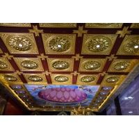 寺廟吊頂-立體蓮花天花板