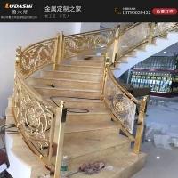 酒店楼梯 不锈钢装饰 雕花楼梯扶手护栏 不锈钢立柱