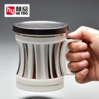 陶瓷杯带盖定制礼品创意广告骨瓷杯子陶瓷批发泡茶杯高档商务实