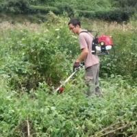 南京市割草機小型多功能松土開溝機器四沖程背負式