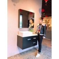 欧尚精品橡木,免漆门实木浴室柜