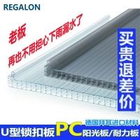双层PC阳光板,透明8mm阳光板【力佳龙】