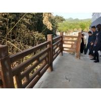 南陽水泥仿木護欄 景區河道仿木欄桿 市政園林圍欄 混凝土護欄