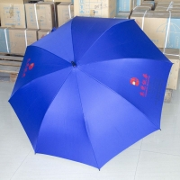 广州中益30寸高尔夫全纤维广告商务伞定制 广东高尔夫伞可印L