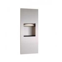 Bobrick B-36903 入墙式卫生纸架与垃圾箱组合柜