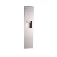 Bobrick B-38034嵌入式纸巾分配器/废物容器