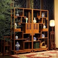 成都唐人仿古家具定制 新中式明清家具客厅博古架家具厂