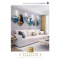 绘迦装饰晶瓷画-沙发三联画