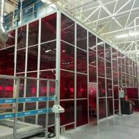 激光弧焊焊房工作站機器人鋁型材焊房除塵罩子隔離屏
