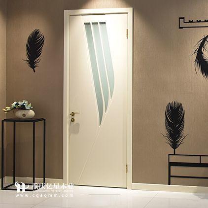 重慶億星木門:時尚木門場景圖展示 玻璃葉子