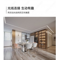 无边框线型线性灯LED灯带天花回型顶客厅卧室洗墙偏光线条灯