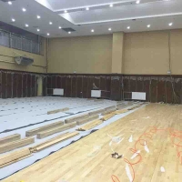 貴州體育木地板   籃球館木地板     羽毛球木地板