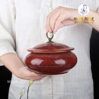 仿古瓷罐斗彩大罐_大罐子手绘斗彩瓷景德镇瓷罐装茶叶