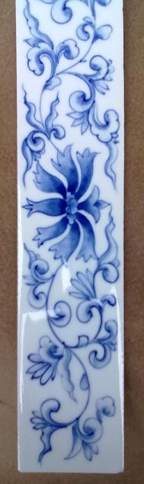 青花陶瓷瓷片地爬壁图片加工瓷板画瓷像订做绘画