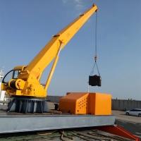 船吊港口吊 船用碼頭起重機 10噸360度旋轉液壓船吊