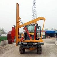 定制裝載機式打拔鉆一體打樁機 高速公路護欄打樁機