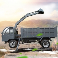 拉土专用随车挖 挖掘装载运输一体机 农用后驱随车挖