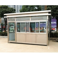 廠家直銷不銹鋼崗亭定做停車場門衛收費亭戶外可移動治安崗亭成品