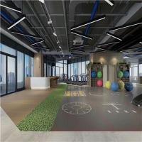 湖南健身房360私教区定制地胶