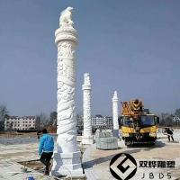 石雕华表大理石盘龙柱石雕欧式汉白玉柱子加工制作