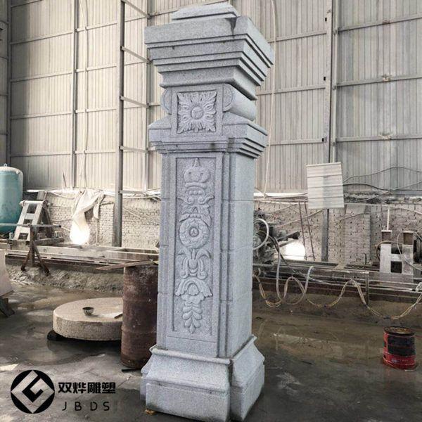 大理石门柱二层石雕大门石雕别墅方柱柱子门柱80平米摆件别墅的图片