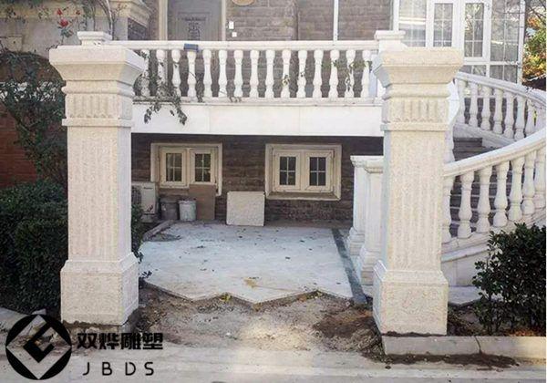 大理石石雕门柱石雕大门门柱别墅摆件柱子方柱别墅装修家那好赣榆图片