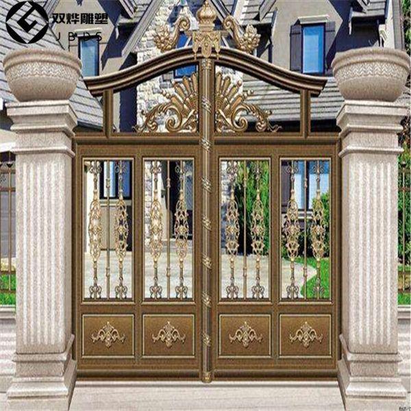 大理石门柱柱子大门石雕别墅摆件门柱方柱石雕峆挪威垆哪儿别墅在木图片