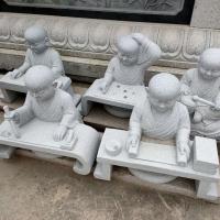 现货小沙弥石雕摆件 小和尚人物雕刻