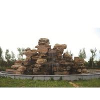 水泥假山塑石假山制作 千层石天然石千层岩假山施工价格